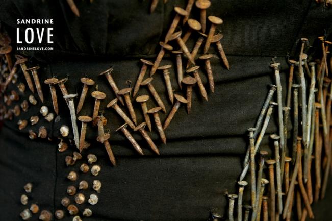 Nancy Judd Rusty Nail Dress Detail
